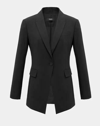 Theory Good Wool Long Blazer