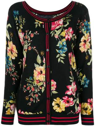 Twin-Set floral knitted cardigan