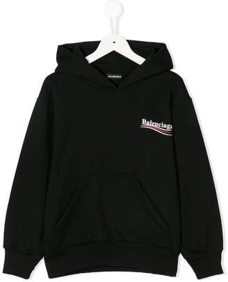 Balenciaga Kids logo print hoodie