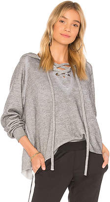 Wildfox Couture Lace Up Cropped Hoodie
