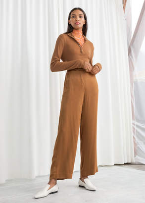 And other stories High Waisted Satin Trousers