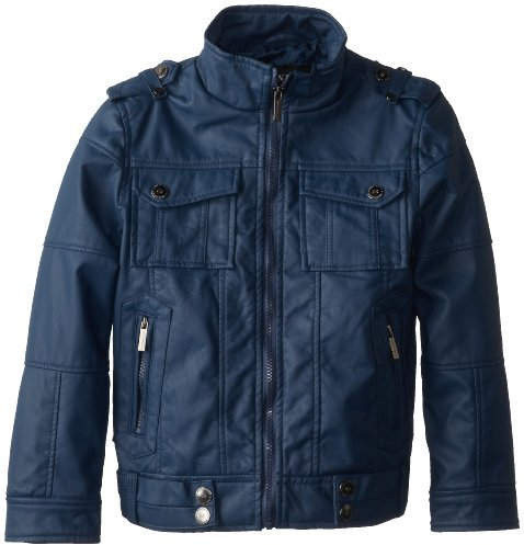 Urban Republic Big Boys' Nappa Faux Leather Aviator Jacket