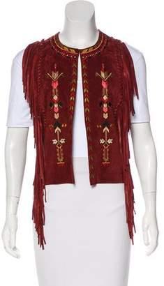 Isabel Marant Suede Embroidered Vest