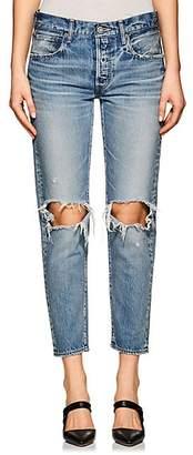 Moussy Women's Latrobe Distressed Crop Jeans - Lt. Blue
