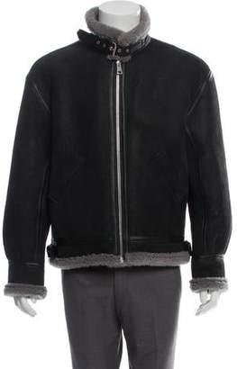 Represent Shearling Bomber Jacket