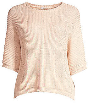 Peserico Women's Crochet Cotton Sweater