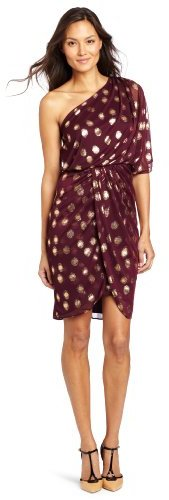 Adrianna Papell Women's One Shoulder Printed Cocktail Dress