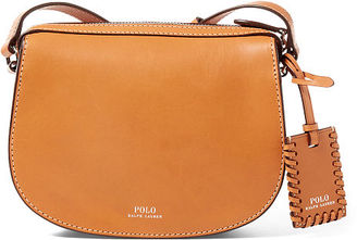 Polo Ralph Lauren Leather Mini Crossbody Bag $198 thestylecure.com
