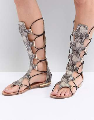 Morgan Knee High Gladiator Sandal