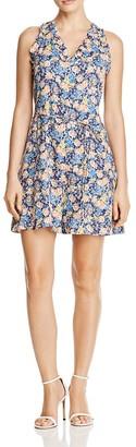 Rebecca Taylor Gigi Floral-Print Silk Dress $350 thestylecure.com