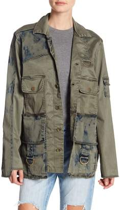 True Religion Mixed Military Jacket