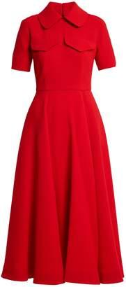 Emilia Wickstead Alice short-sleeved wool midi dress