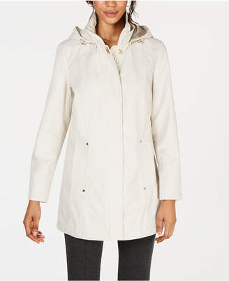 Jones New York Petites Petite Hooded Raincoat