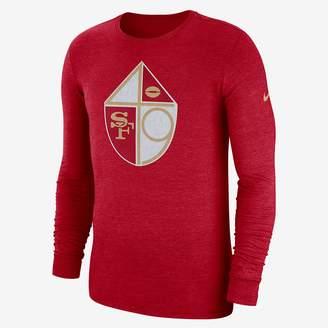 Nike NFL 49ers) Men's Tri-Blend Long Sleeve T-Shirt