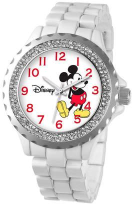 EWatchFactory Disney Mickey Mouse Women White Alloy Enamel Spark Watch