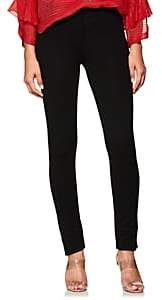 Derek Lam Women's Stretch-Crepe Slim Trousers - Black