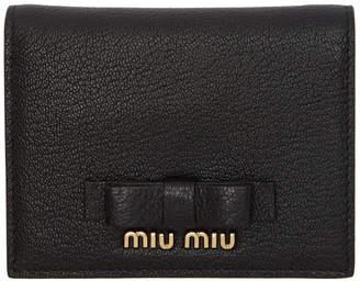 Miu Miu Black Bow Logo Wallet