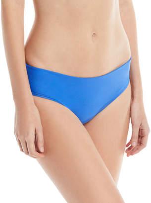 Mikoh Cruz Bay Low-Rise Hipster Solid Swim Bikini Bottoms