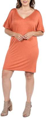 24/7 Comfort Apparel Plus Mini Dress