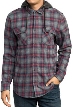 RVCA Good Hombre Hooded Plaid Flannel Shirt
