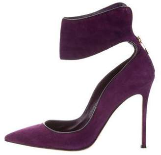 Gianvito Rossi Suede Pointed-Toe Pumps