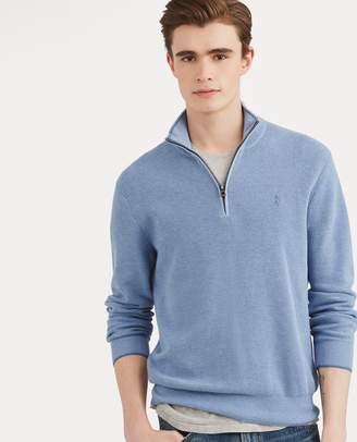 Ralph Lauren Cotton Mesh Half-Zip Sweater