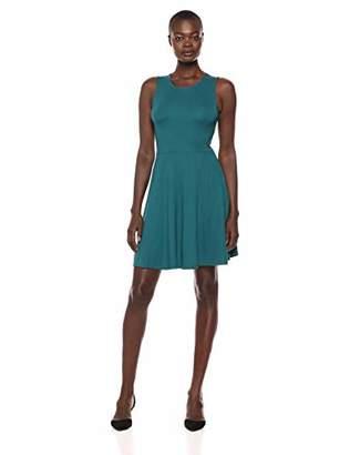 Lark & Ro Amazon Brand Women's Sleeveless Wide Scoop Neck Fit and Flare Dress