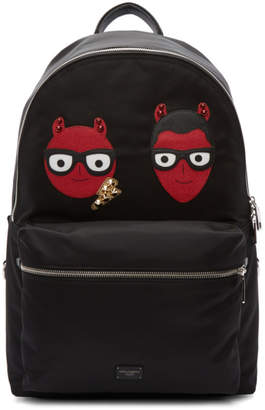 Dolce & Gabbana Black Devil Designer Backpack