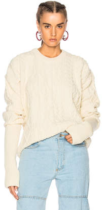 Y/Project Y Project Asymmetrical Sleeve Crewneck Sweater