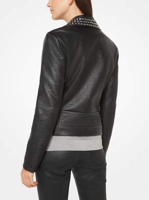 MICHAEL Michael Kors Studded Faux-Leather Jacket