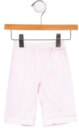 Il Gufo Girls' Linen Pinstripe Pants w/ Tags