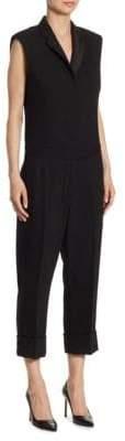 Thom Browne Sleeveless Notch Collar Jumpsuit