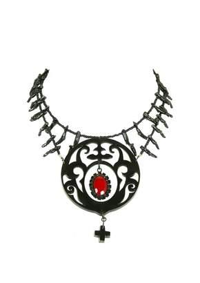 Jean Paul Gaultier Vintage Black Plastic Necklace
