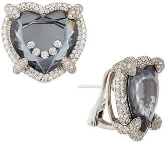Chopard Happy Diamonds Floating Heart Button Earrings
