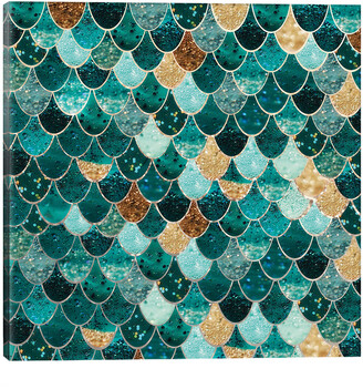 Icanvasart Really Mermaid _ Emerald And Gold By Monika Strigel