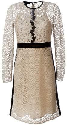 Burberry floral lace A-line dress