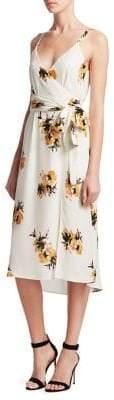A.L.C. Marin Silk Tie-Waist Floral Dress