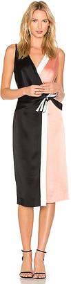 Diane von Furstenberg Taped Wrap Dress in Pink $448 thestylecure.com