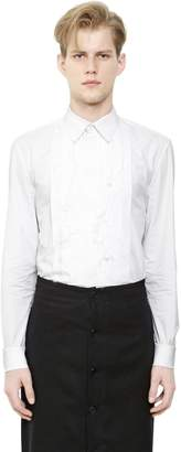 Givenchy Cotton Poplin Shirt W/ Frayed Plastron