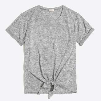 J.Crew Space-dyed tie-waist pocket T-shirt