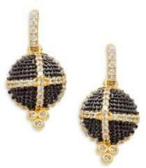 Freida Rothman Textured Ornaments Dome Drop Earrings