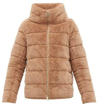Herno Quilted Down Faux Fur Jacket - Womens - Beige