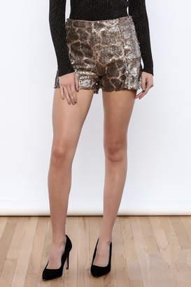 Ark & Co Sequin Mini Shorts
