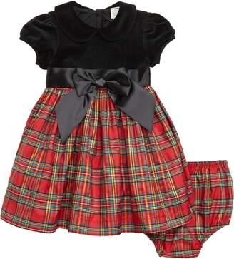 Little Me Plaid Fit & Flare Dress