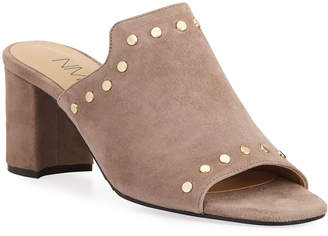 Neiman Marcus Lexa Studded Suede City Sandals