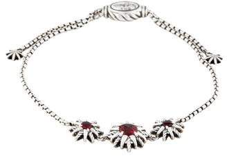 David Yurman Garnet Starburst Bracelet
