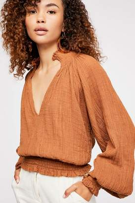 Solid Smocked Top