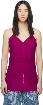 Marques Almeida Pink Ruched Tank Top