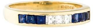 Ring 18K Sapphire & & Diamond