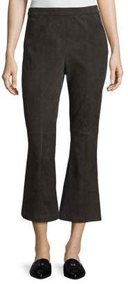 St. John Stretch-Suede Capri Pants